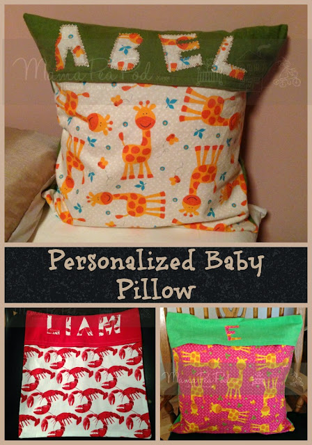 easy personalized throw pillows for babies and kids tutorial for beginners