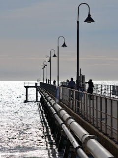 glenelg jetty in the afternoon