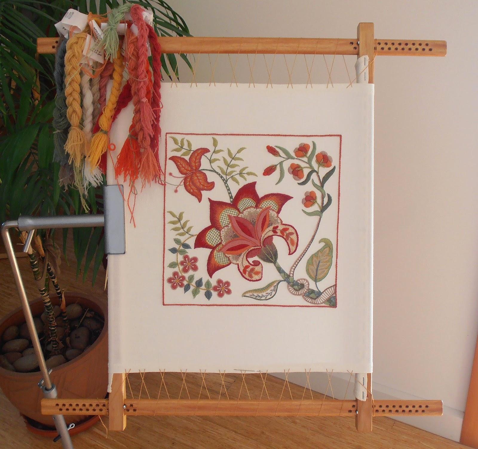 Anna Scott : Crewel embroidery update...