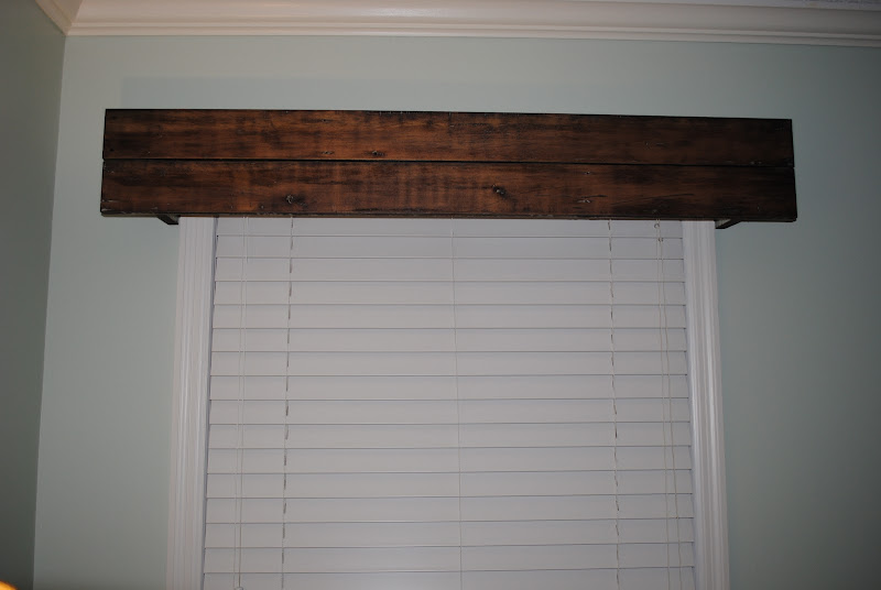Rustic Wood Window Cornice