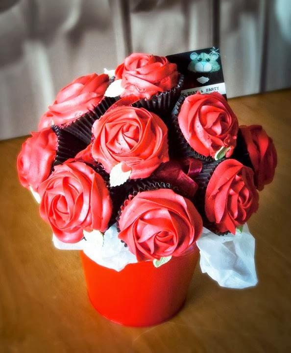 valentine cupcake rose bouquet