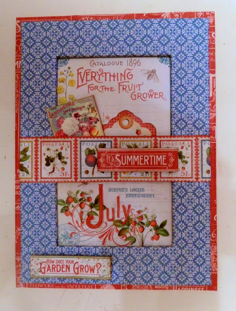 Time To Flourish Decorative Frame July Clare Charvill Jones Crafts Graphic 45
