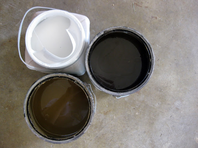 Mixing the glaze is easy- use 4 parts glaze to 1 part paint!