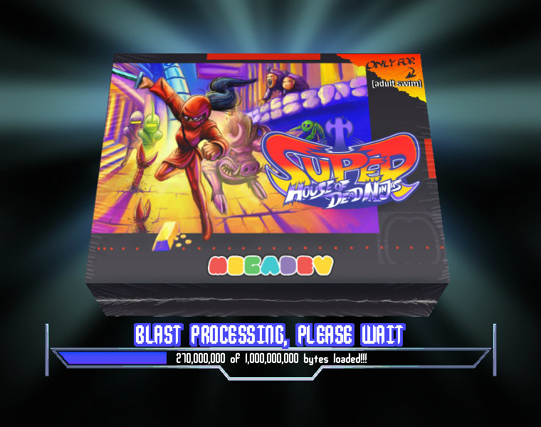 Super House of Dead Ninjas loading screen blast processing box art