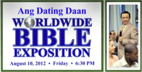 ang dating daan bible exposition Ang dating daan in mandarin features bro bro eli soriano holds a regular bible exposition for his filipino untv news and rescue emergency.
