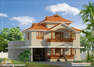 Beautiful Kerala Style Duplex Home Design - 2633 Sq. Ft. | Indian ...