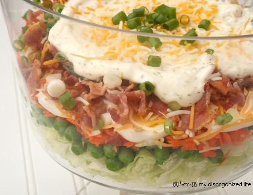 24-hour Layered Veggie Salad {i love} my disorganized life # ...