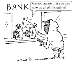 Bank robbery.