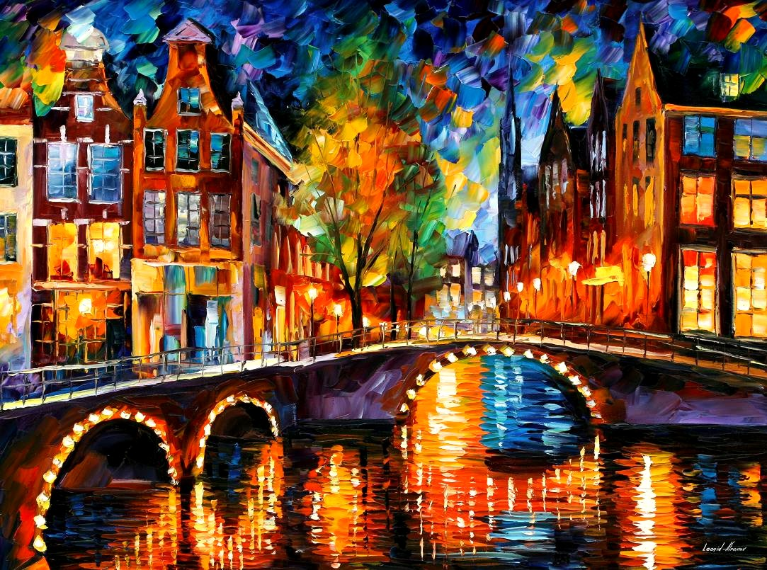 La dimensi n argentina leonid afremov y su colorido arte for Most famous house songs