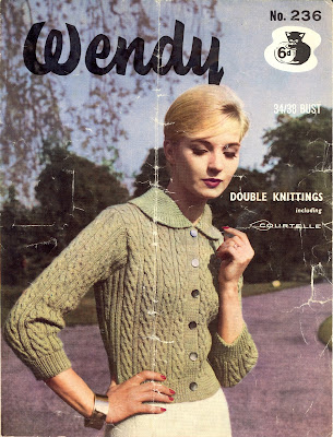 Free 1960's Knitting pattern for a Lady's cable Jacket or cardigan
