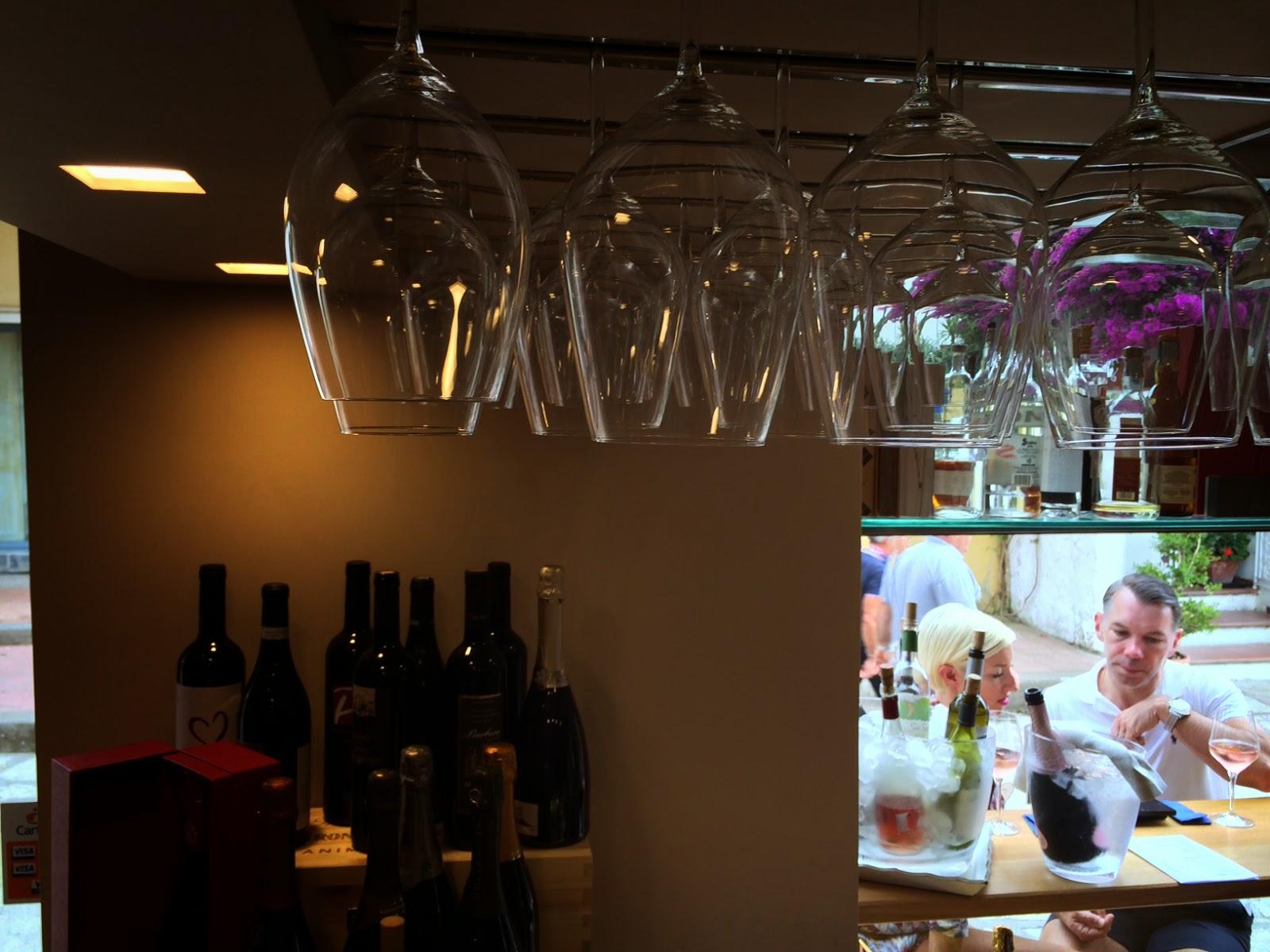 zagara capri wine room