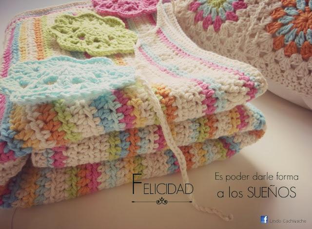 manta y almohadon tejidos al crochet en hilo de algodón