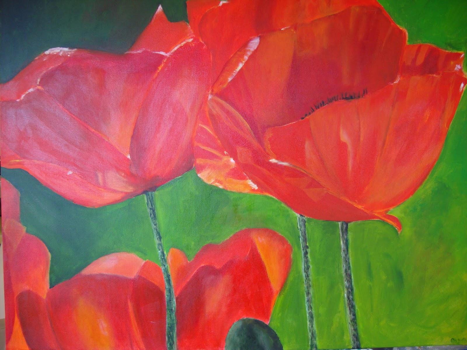 Schilderijen bloemen for Schilderijen van bloemen