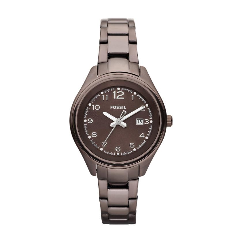 Usa Boutique Fossil Women S Flight Stainless Steel Brown Watch Am4383