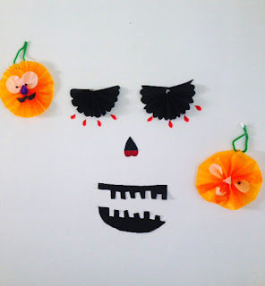 Halloween Decorations with Tissue Paper