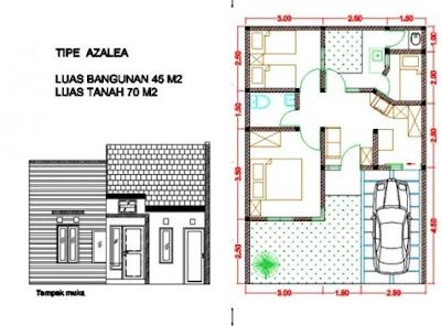 Denah dan Desain Rumah Type 90 1 Lantai