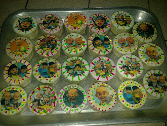 upin ipin cup cake