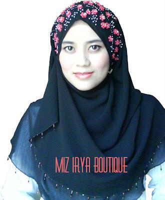 miz irya boutique chiffon shawl half moon sakura batch 2   sold out