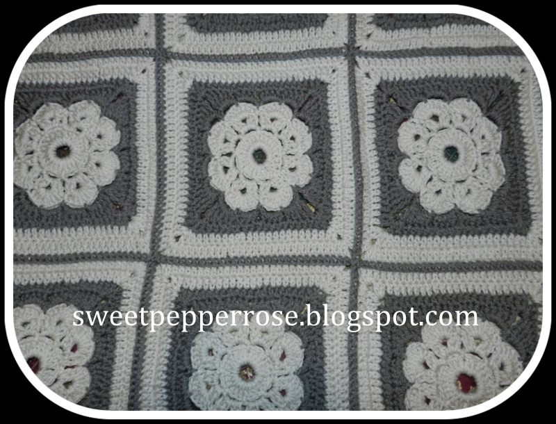 Maybelle Crochet Flower And Square Afghan Sweetpepperrose