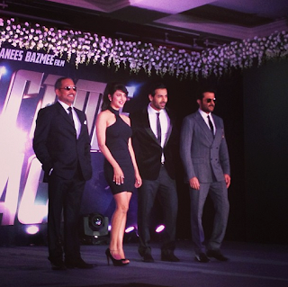 John, Anil, Shruti & Nana at announcing the starcast of Welcome Back movie
