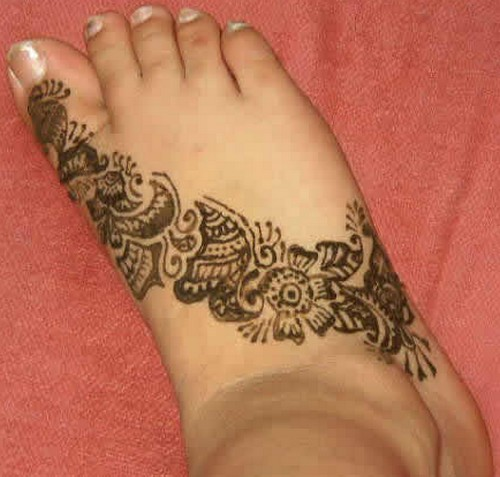 Mehndi Henna Designs For Feet : Mehndi design for foot all about