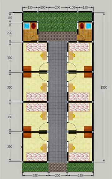 contoh gambar desain kamar kost sederhana untuk mahasiswa