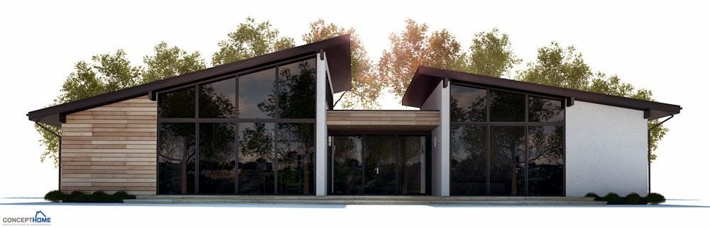 CH286 Modern Beach House Plan | Beach House Plans