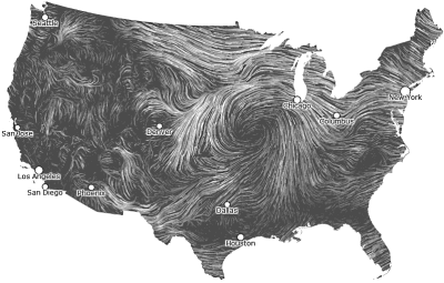 Wind Map of The United States
