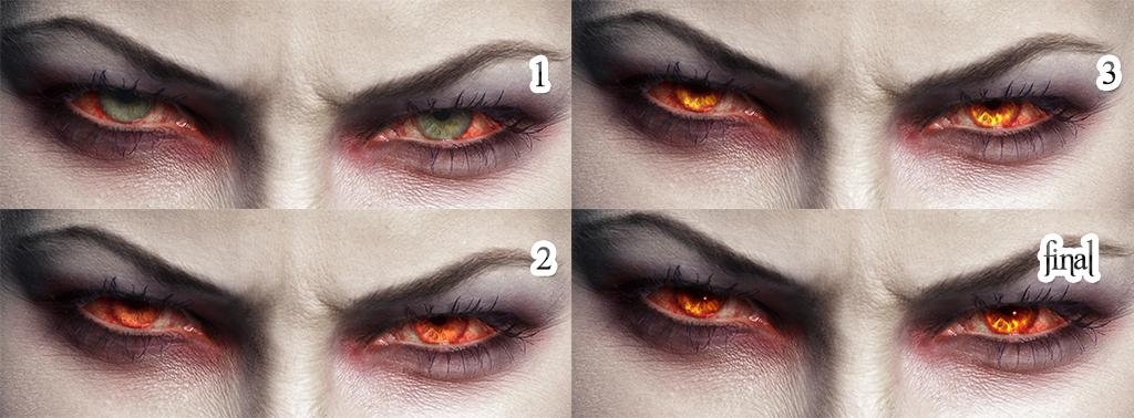 Как себе сделать глаза вампира 810