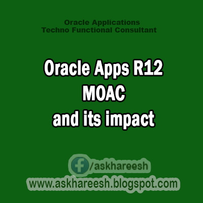 Oracle Apps R12 MOAC and its impact, AskHareesh Blogspot