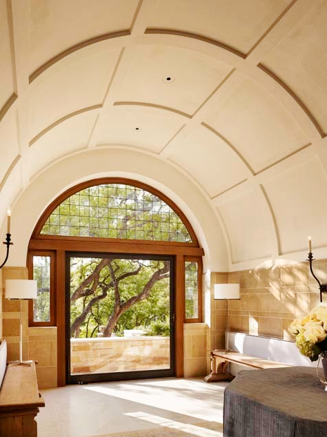 Vaulted ceiling in a Texas home by Michael Imber