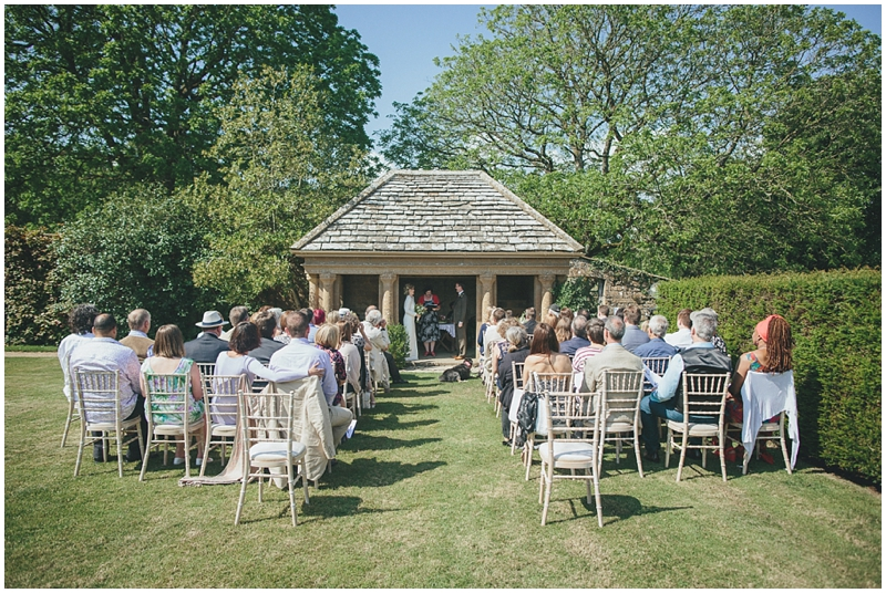 Outdoor ceremony at Mapperton Gardens