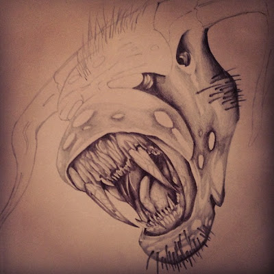 Savage Beast Teeth Drawing