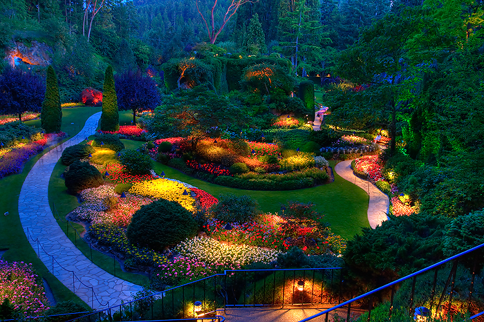 Colorful butchart gardens victoria canada nice n funny for A night at the garden