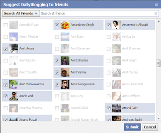 Facebook arkadaşalarınıza istek gönderirken tümünü seç kodu