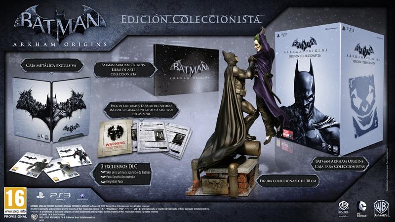 Detalles de la edición coleccionista de Batman Arkham Origins