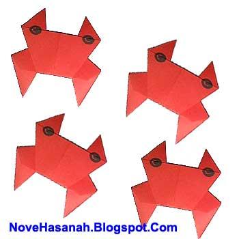 cara membuat origami binatang kepiting
