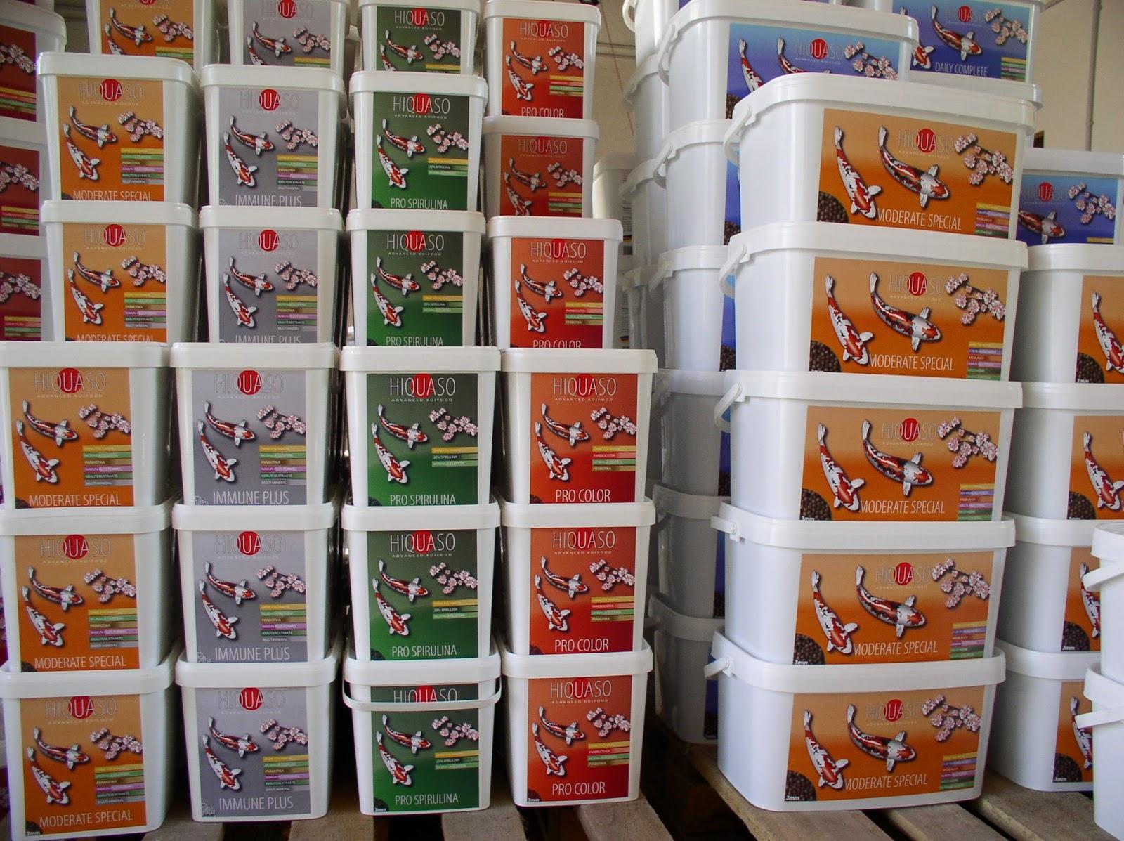 Hiquaso Koifuttersorten, Futter für Koi, Lager mit Koifutter