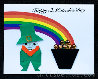 St. Patrick's Day Card: Leprechaun and Pot of Gold