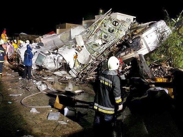 47 dead, 11 injured in Taiwan plane crash