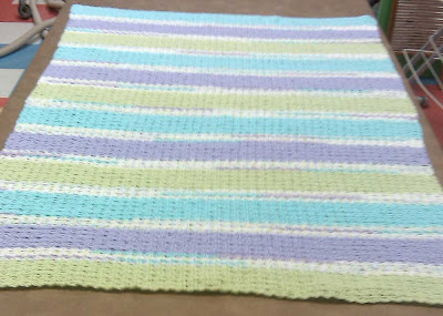 Finished afghan before weaving in yarn