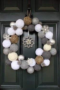 http://twojunkchix.blogspot.com/2011/01/snowball-wreath.html