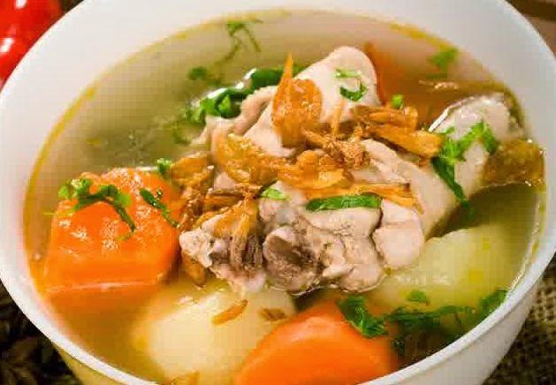 Resep Membuat Sop Ayam Sayuran Bening Gurih Enak Spesial