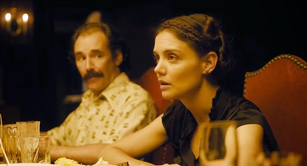 Katie Holmes, Ben Whishaw, and other actors in the trailer of the film Days and Nights