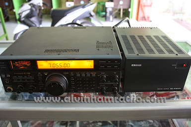 HF TRANSCEIVER ICOM IC - 738 SETLINE ICOM PS - 15