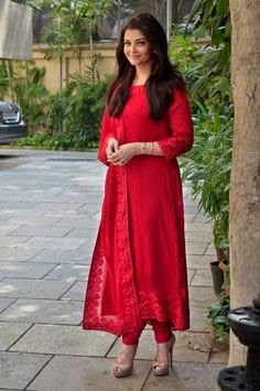 Aishwarya in Red Kurti