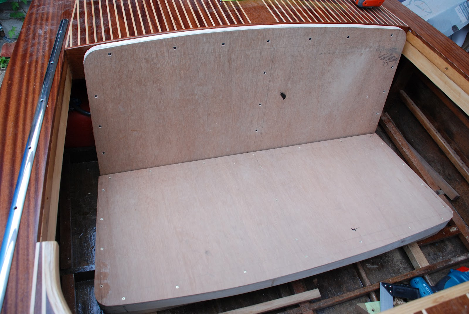 My Wooden Speed Boat Build Bench Seats
