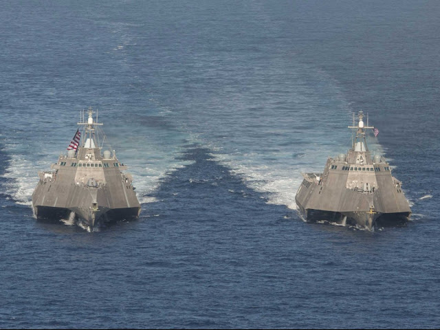 USS Independence (LCS 2) and USS Coronado (LCS 4)