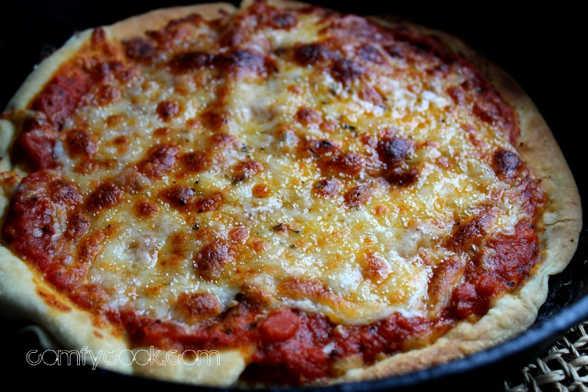 thin crust stovetop pizza oven roasted tomato sauce or store