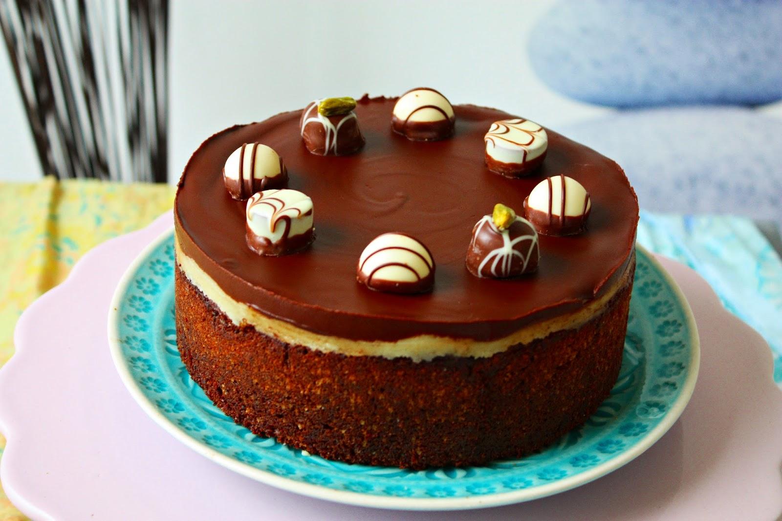 Haselnuss Kuchen mit Marzipan